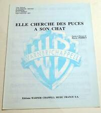 Partition sheet music PIERRE PERRET : Elle Cherche des Puces à son Chat * 60's