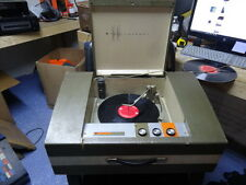#^c Vintage Sears 1963 Silvertone 3272 Portable Stereo Record Player Suitcase