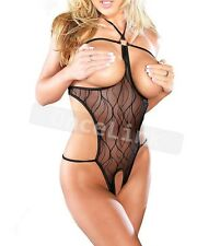 Sexy LINGERIE Pyjamas Chemise NUISETTE OUVERT CATSUIT FESSES Body String Neuf