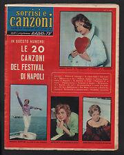 SORRISI 24/1959 CANZONI FESTIVAL DI NAPOLI GALLO ABBATE RONDINELLA ELSA BERTUZZI