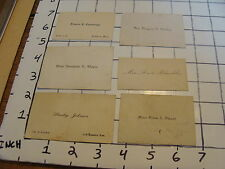 Vintage Early Paper: Business card/calling card lot #1