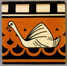 5 Dutch Delft Art Deco Tile Panel Swan Border Frieze