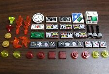 LEGO Specialty Parts Lot Decorated Tiles Control Panel Gauges Clock etc city car
