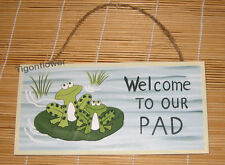 Wood Sign Plaque Decor Primitive Country Welcome To Our Pad Buy 2 get 1 free