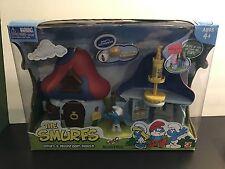 The Smurfs ~ Smurfs Mushroom House 9 piece set! Original Box Sealed!