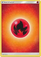 4X Fire Basic Energy -Sun and Moon Base Set- -NM- Pokemon 2017 Red Burn