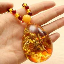 Beautiful Insects Amber Specialties Natural Small Bee Inclusion + Beeds Necklace