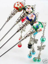 4PCS CLOISONNE HAIR CHOPSTICK STICK PIN FANCY PARTY CHINESE WEDDING Wholesale