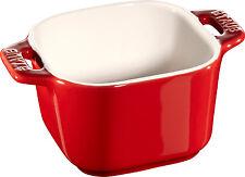 Staub Keramik 6er Set XS Mini Förmchen Ramekin Dessertschale quadratisch Kirschr