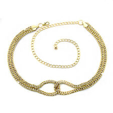 Oro diamante/diamond señoras Cintura chain/charm Belt - One Size Fits All - 280