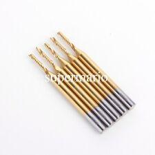 5x 1/8'' Titanium N2 Coated Carbide One Single Flute CNC Router Bit 1.5mm x 8mm