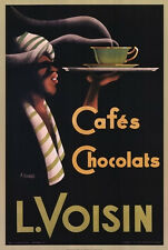 VINTAGE COFFEE CAFE ART PRINT - CAFES CHOCOLATS by Noel Saunier Chocolate Poster