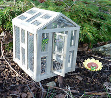 Dollhouse Miniature Fairy Garden Butterfly GreenHouse w/ Butterflies