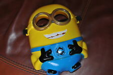 LED LIT MINION DESPICABLE ME  MASK..PVC.NOT THIN PLASTIC.SEE SHOP.NEW.UK SELLER