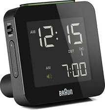 BRAUN Funkwecker alarm clock digital BNC009 schwarz radio controlled clock black