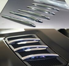 ROYAL PREMIUM CHROME Bonnet Fins Hood Vent Grill Trims for Mercedes R172 SLK AMG
