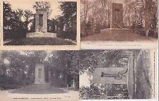 Lot 4 cartes postales anciennes COMPIEGNE forêt monument du matin de l'armistice