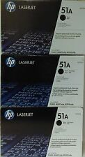 3 New Genuine HP Q7551A Laser Cartridges No Box No Bag but SEAL IS INTACT