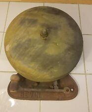 """Antique Early 12"""" Brass BEVIN  Boxing  Fire School  Industrial Bell Jack Dempsey"""