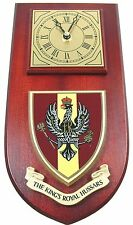 KINGS ROYAL HUSSARS CLASSIC HAND MADE TO ORDER REGIMENTAL WALL CLOCK