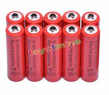 10x AA 2A 3000mAh 1.2V Ni-Mh Red Color Rechargeable Battery RC Best Price