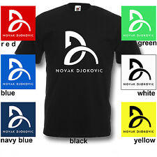 New Logo Novak Djokovic Tennis Champions T-Shirt Sport Winner Mens Shirt S-2XL