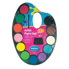 Children Kids Artist Paint Set With Palette 12 Paints And Brush Scrapbooking