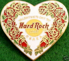 Hard Rock Cafe OSAKA 1997 Valentine's Day PIN White HEART Roses