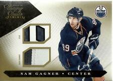 2010-11 Luxury Suite Jersey Numbers Sticks Gold #28 Sam Gagner 5/10 Oilers