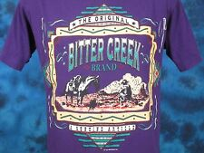 vintage 80s BITTER CREEK COWBOY HORSE BUTTERY SOFT T-Shirt M wyoming indian thin