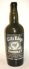 Early Pre Probition Gilt Edge Rye Whiskey Bottle, Walshb & Co. Boston