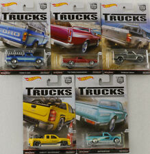 Car Culture 5 pcs Set Trucks Brat 620 Ranchero F 250 Chevy 1:64 Hot wheels 956C