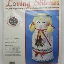 Mary Christmas Sit Abouts Counted Cross Stitch Figure Loving Stitches 1990 USA H