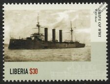 WWI HMS KENT (1901) Royal Navy  Monmouth-Class Armoured Cruiser Warship Stamp