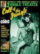 CALL OF THE JUNGLE starring ANN CORIO 1940s JUNGLE GIRL! Plus CONGO BILL ch. DVD