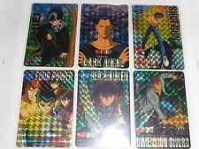 Yu Yu Hakusho CARDDASS PART 5  6 PRISM CARDS FULL SET