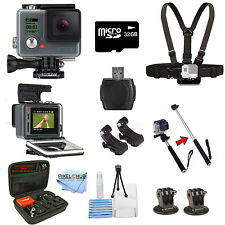 GoPro HERO+ PLUS LCD Edition With 32GB 10 Piece Ready To Go Bundle! Newest Model