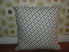 Homemade 16x16 cushion cover using orla kiely bedding fabric in ROCKPOOL