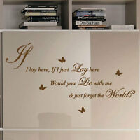 Snow Patrol  IF I LAY HERE Song Lyrics Art Wall Stickers Quote/ Wall Decals