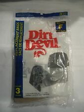 1 (3 PACK) NEW DIRT DEVIL VACUUM BAGS F - PACKAGE #3-200147-001 - DUST