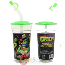 TMNT Teenage Mutant Ninja Turtles Flex Straw Tumbler Drinking Bottle BPA Free