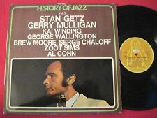 JAZZ LP - HISTORY OF JAZZ VOL 7 - GETZ/MULLIGAN/WINDING - BYG RECORDS FRANCE NM