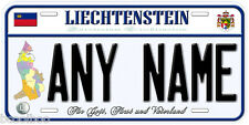 Liechtenstein Any Name Personalized Car Auto Tag Novelty License Plate C01