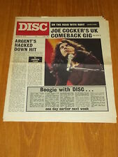 DISC AND MUSIC ECHO APRIL 8 1972 JOE COCKER STRAWBS JONATHAN KELLY ARGENT