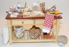 Dollhouse Miniature Baking Pastries  Work Table Reutter Porcelain  1:12  F47A