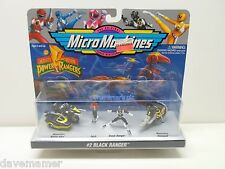 Mighty Morphin Power Rangers Micro Machines # 2 Black Ranger Zach 1994 Sealed