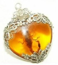 HOT SALE new Tibet silver amber scorpion necklace pendant