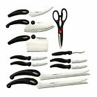 Miracle Blade 11 Piece Sharp Steel Kitchen Cutlery Knife Set w Scissor Cleaver