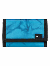 NEW QUIKSILVER MENS RECEPTION II BLUE VELCRO TRIFOLD WALLET/PURSE 6W/3280/BLJ6
