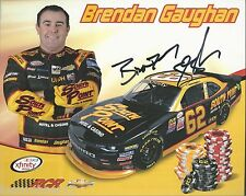 "SIGNED 2016 BRENDAN GAUGHAN ""SOUTH POINT CASION RCR"" #62 NASCAR XFINITY POSTCARD"